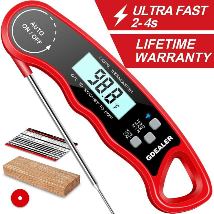 GDealer DT09 Waterproof Digital Instant Read Meat Thermometer