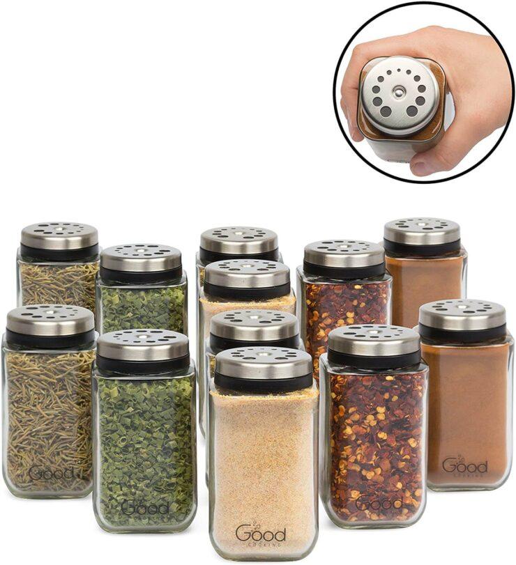 Good Cooking Adjustable Glass Spice Jars