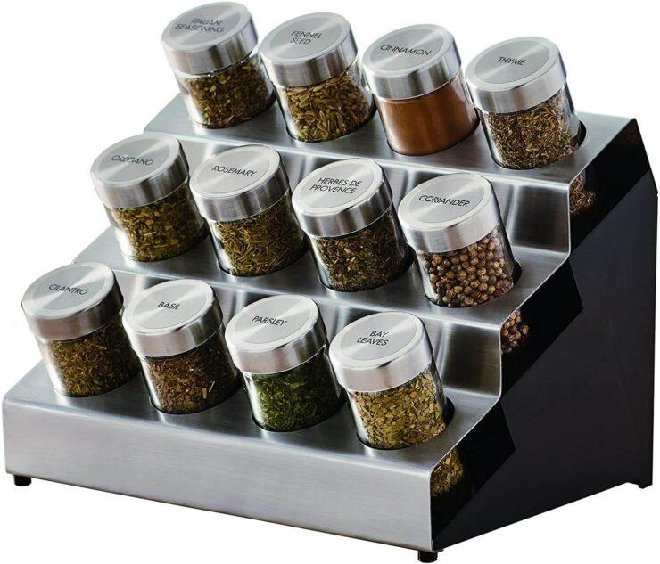 Kamenstein 5192805 Tilt Countertop Spice Rack