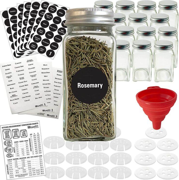 Talented Kitchen Glass Spice Jars