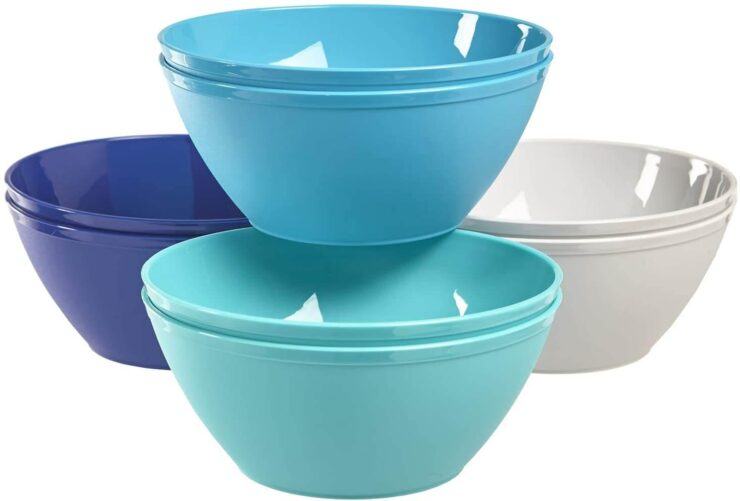 Fresco 6-Inch Plastic Bowls for Cereal