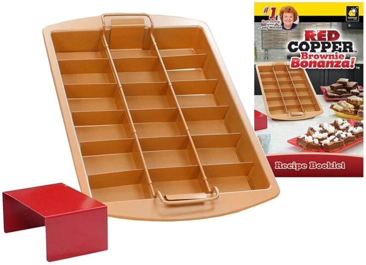 Red Copper Brownie Bonanza Pan by Bulbhead