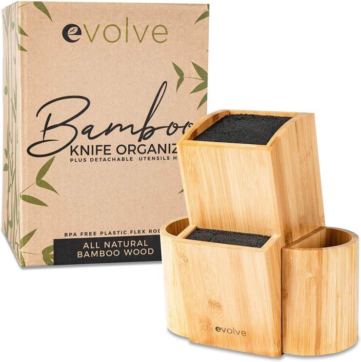 Evolve Bamboo Knife Block