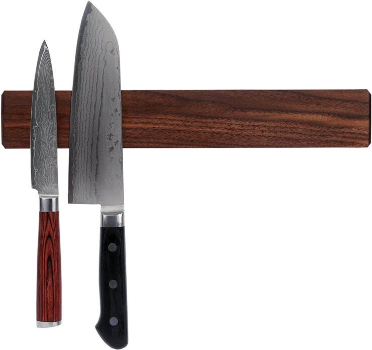 Kurouto Store Walnut Magnetic Knife Holder
